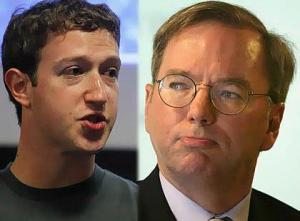 Facebook-Mark-Zuckerberg-Google-Eric-Schmidt
